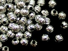 40 x 4mm Antique Silver Plated Melon Spacer Beads Findings FREE UK P+P A127
