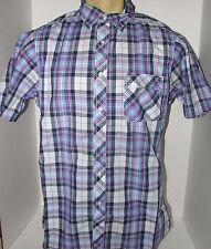 Daniel Cremieux Plaid Purple Short Sleeve Shirt Size XL New