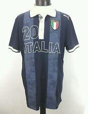 PUMA Italy Italia FIGC Soccer Futbol  Mens Jersey #20 Polo Shirt Blue Sz XL RARE