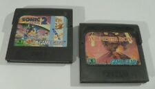 Sega Game Gear - SONIC 2 The Hedgehog & WONDER BOY Spiele vintage