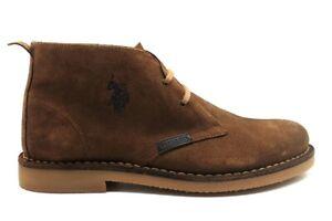 Chaussures pour Hommes US Polo Assn Bottines en Daim Casual Véritable Cuir Hiver