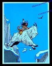 YAKARI dos de chèvre bouc bouquetin montagne AFFICHE bleu chambre poster enfant