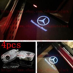4pc For Mercedes Benz S/CL-Class 2007-2012 Car LED light Door Projector logo Kit