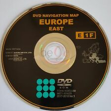 Toyota, Lexus ORIGINAL Navigation DVD E1F 2018 East Europe Ost Europa Update Map