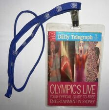 2000 Olympic Games Sydney THE DAILY TELEGRAPH Official Guide by UPS w Lanyard!!!