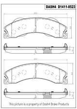 Disc Brake Pad Set fits 2012-2015 Nissan NV2500 NV3500 NV1500  DASH 4 BRAKES