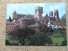 J.SALMON CAMERACOLOUR.POSTCARD.YORK MINSTER FROM THE CITY WALLS.NOT POSTED.