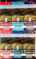 2007 PGA Championship Wanamaker (6/7 Day Matching Ticket Set )TIGER WINS MAJOR!