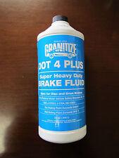 NEW Granitize DOT 4 PLUS SUPER HEAVY DUTY  BRAKE FLUID - 32 OZ (.946L)
