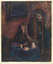 KLAUS DRECHSLER - Nachtgedanken - Farblithografie 1992