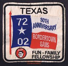 """LMH Patch 1972 2002 GOOD SAM CLUB Samboree Rally BORDERTOWN SAMS  30th Anniv. 5"""""""