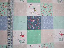 L'eau salée tissu collection bleu/vert patchwork design avec des poissons vendus par fq