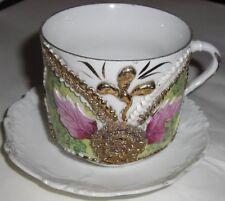 Antique Porcelain German 20's shaver cup and saucer? Stamped 101 Great Color