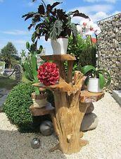 """Blumenständer aus Holz 70cm mit 4 Ablagen Kaffeebaum Blumen """"Hohe"""" 50-100-70"""