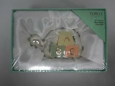 """TOWLE """"LIL TORTOISE"""" ALPHABET ABC TURTLE COIN BANK ~ MIB MINT IN BOX SEALED"""