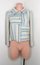 CHANEL IDENTIFICATION CRUISE 2000 TWEED STRIPED JACKET 36