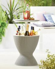 Rattan Ice Bucket Activity Bar Cooler Table Grey Outdoor🌞- Express P&P🚚