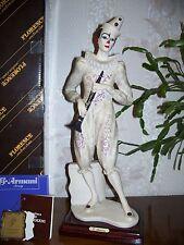 "G. ARMANI Figure Figurine Statue Sculpture ""Clown w/Clarinet"" Music,Pierrot Rare"