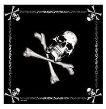 "Bandana Jolly Roger Biker Headwrap Skull & Crossbones Cotton Bandana 22"" X 22"""