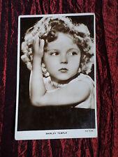 SHIRLEY TEMPLE -  FILM STAR  - VINTAGE POSTCARD - VG
