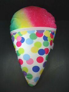 "Iscream Microbead Snow Cone Pillow Plush Moshi 20""x12"""
