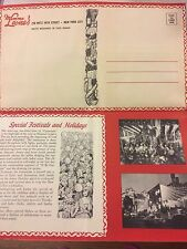 RARE MAMMA LEONE'S New York City Mailable Vintage Menu for THANKSGIVING DINNER