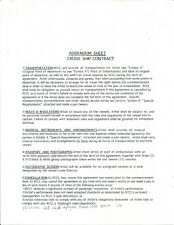 MICKEY DOLENZ MONKEES 2000 ORIGINAL & VINTAGE SIGNED CONTRACT