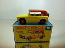 MATCHBOX 18 FIELD CAR - YELLOW + BROWN - VERY GOOD CONDITION IN BOX