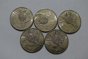 TOKELAU 1 TALA 1978 - 5 COINS LOT B36 ZF4