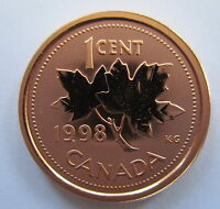 1998 CANADA 1 CENT SPECIMEN PENNY COIN