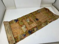 Ancient Canvas Hand Written Hindu Religious Manuscripts With Miniature Painting