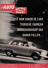 AMS Auto Motor Sport - 13. Januar 1962 - Heft 2 - 2/1962