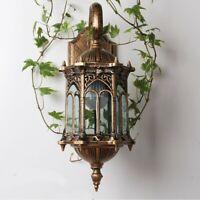 Wall Lantern Aluminum Antique Bronze Light Outdoor Exterior Garden Porch Lamp