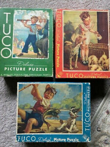 (3) TUCO Picture Puzzles - 1940's