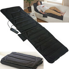 FULL BODY HEATED MASSAGER FOLDABLE MAT MASSAGE MUSCLE RELIEF STRESS TENSION NEW