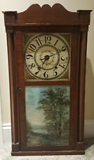Antique Working 1830's Daniel Pratt OGEE Clock Weight Driven Wood Works Movement