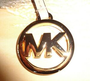 Michael Kors Gold MK Logo Purse Charm/Key Chain FOB Hangtag