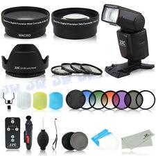 58mm WideAngle Tele Lens & Flash & Grad Filters Kit for Canon 80D 70D 760D 700D