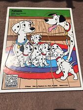 Vintage Childrens Wooden Puzzle- Disney's 101 Dalmatians-Pongo, Permits and Pups