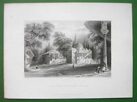 CONSTANTINOPLE Third Court of Serai Bournou - BARTLETT Antique Print
