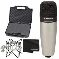 Samson C01 Studio Condenser Mic + Samson Spider Shock Mount + Cloth