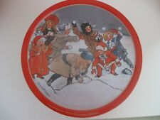 """Jenny Nystrom Christmas Tin, Held Gille Ginger Snaps, From Sweden 7 1/2"""""""