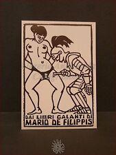 EROTICA - Ex-Libris Originale CINTURA CASTITA' Libri Galanti Mario De Filippis