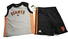 adidas MLB Toddler San Francisco Giants Baseball Shirt & Shorts Set LOOK 4T