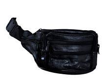 NEW Soft Leather Bum Waist Bag Pouch Wallet Travel Bag Men's Money Belt