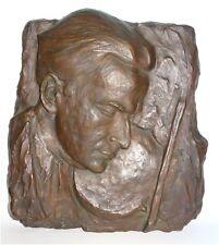 "Massives Bronze Relief Bild ""Yehudi Menuhin"" Geigenspieler (signiert mit FB)"