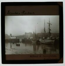 More details for 1900s magic lantern slide sailing vessels / lighthouse scarborough yorkshire