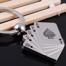 Poker Key Chain Men Male Personality Metal Key Chains Key Rings Keyrings HU
