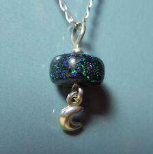 Pendentif argent Opale de fée Australie et Lune 3.25ct VIDEO Fairy opal pendant