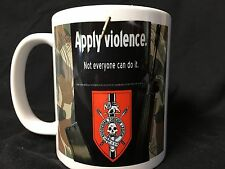 Apply Violence FAL Coffee Mug Rhodesian Soldier of Fortune  Be A Man Among Men